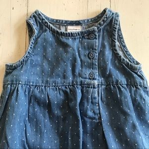 GAP One Pieces - Baby GAP Polka Dot Chambray Romper